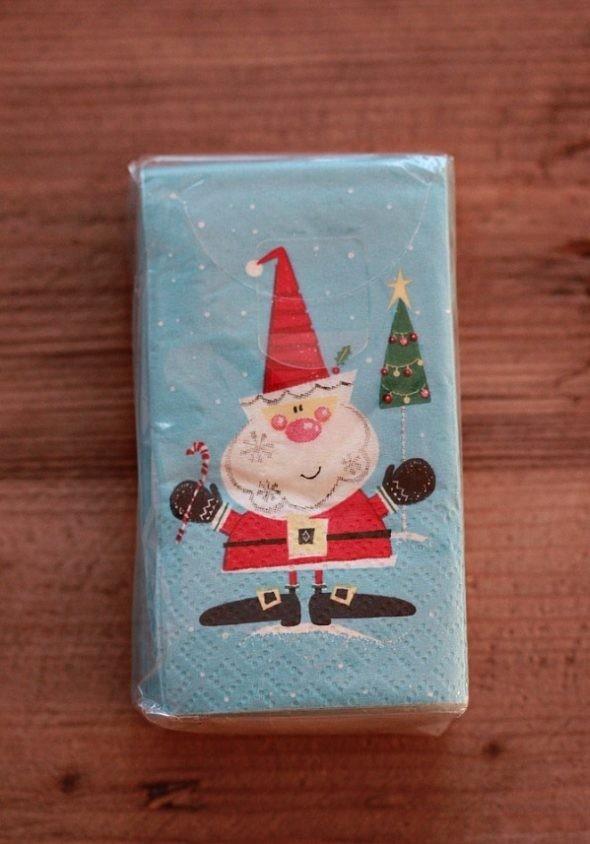 Santa Pocket Tissues Pier1 packaging pocked tissue paper imperceptible self adhesive tape