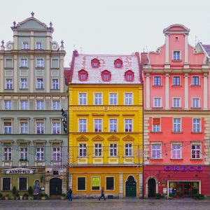 Beautiful facades, beautiful building wroclaw poland,