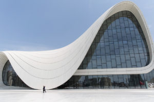 beautiful building Heydar Aliyev Center