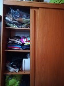 Slanted blocked sliding door wardrobe closet, bad furniture