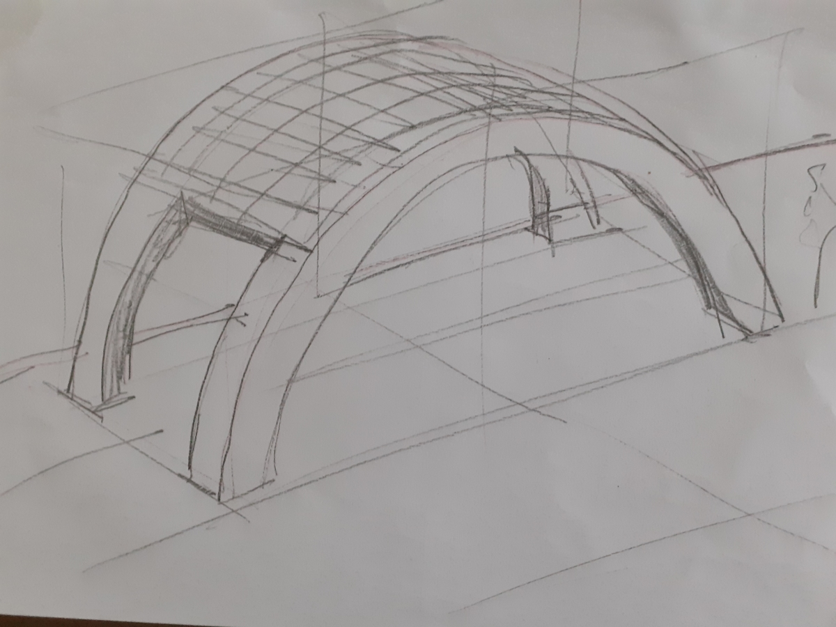 architectural sketch canopies gas stations