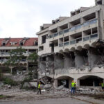 A strong earthquake in 1979 destroyed the hotel