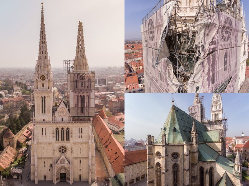 Zagreb cathedral earthquake 2020