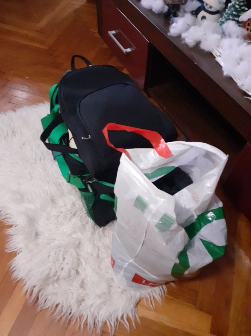 packed bag handy stuff documents