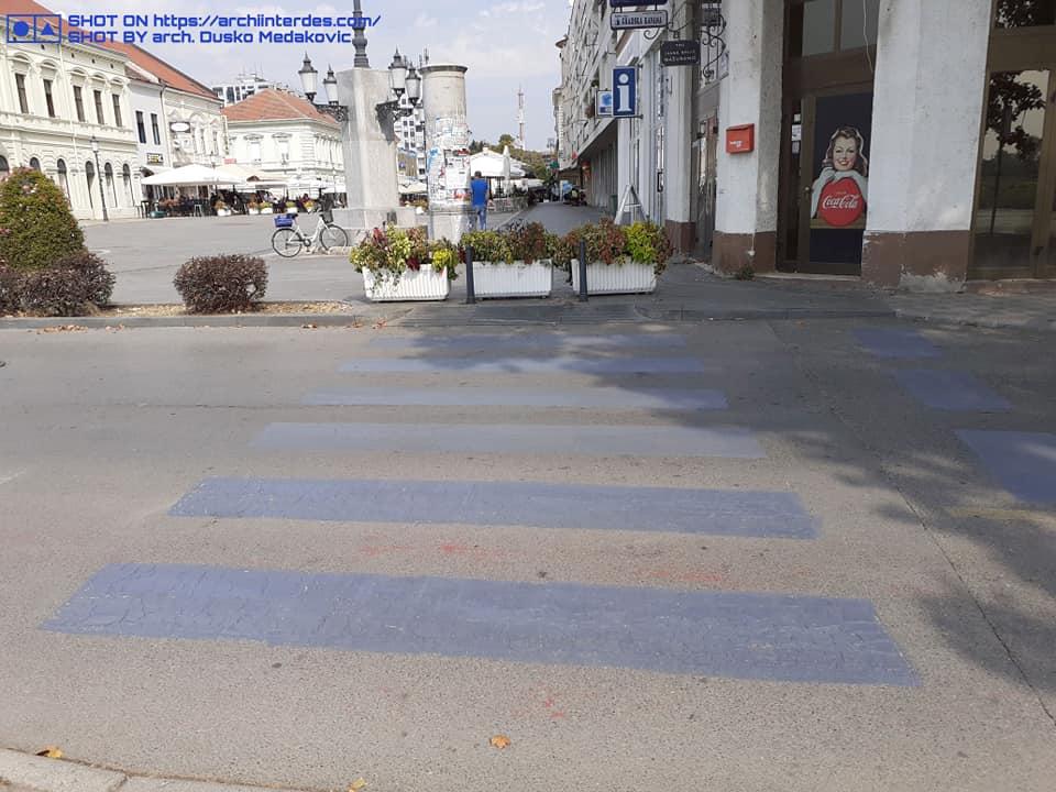 Old-gray-pedestrian-crossing